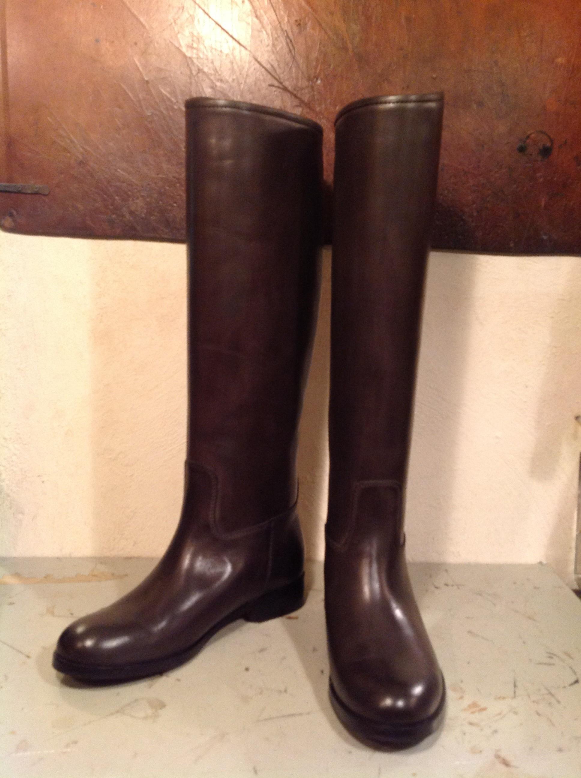 ブルーノマリ ブーツの筒丈カット